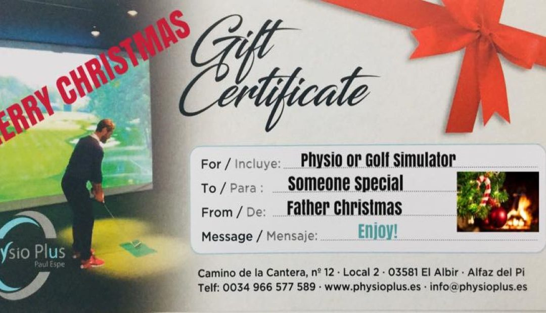 Gift Vouchers from Physioplus make a perfect solution for Christmas giving!
